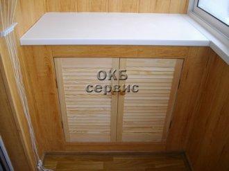 Шкаф на балконе из мдф