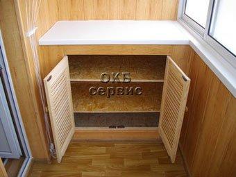 Шкаф для инструмента для лоджии..